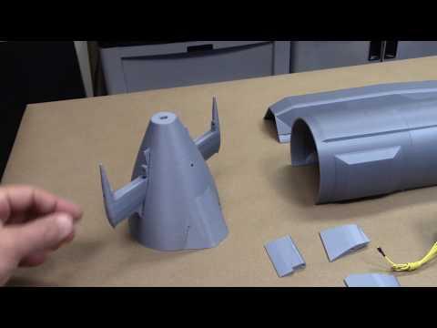 3D Printed RC Submarine Hull - British Astute Class