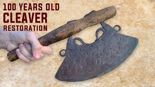 Antique Rusty Cleaver Restoration | A Real Antique