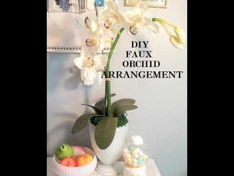 Diy Faux Orchid Arrangement Home Decor Ideas