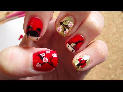 Chinese New Year Nail Tutorial Youtube