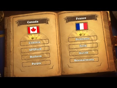 Canada vs France - Group F - Match 1 - Hearthstone Global Games
