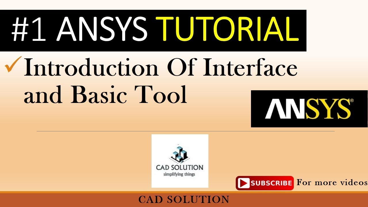 ANSYS 15 TUTORIAL FOR BEGINNERS EBOOK