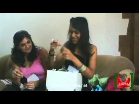 Nia Sharma and her Mom Opening Gifts of Fans