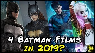 Wb & dc looking to put out 4 batman films in 2019