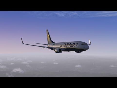 Ryanair PMDG 737-800 Nimes LFTW - Fez GMFF - St Etienne LFMH - Porto LPPR  (Part 1)