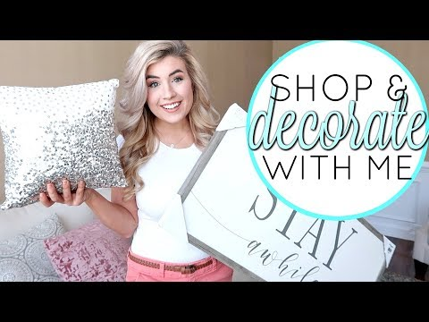 SHOP & DECORATE WITH ME IN THE NEW HOUSE | GLAM HOME DECOR IDEAS | HickmanVlogs 2019