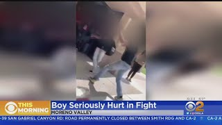 Boy Seriously Hurt In Moreno Valley School Fight