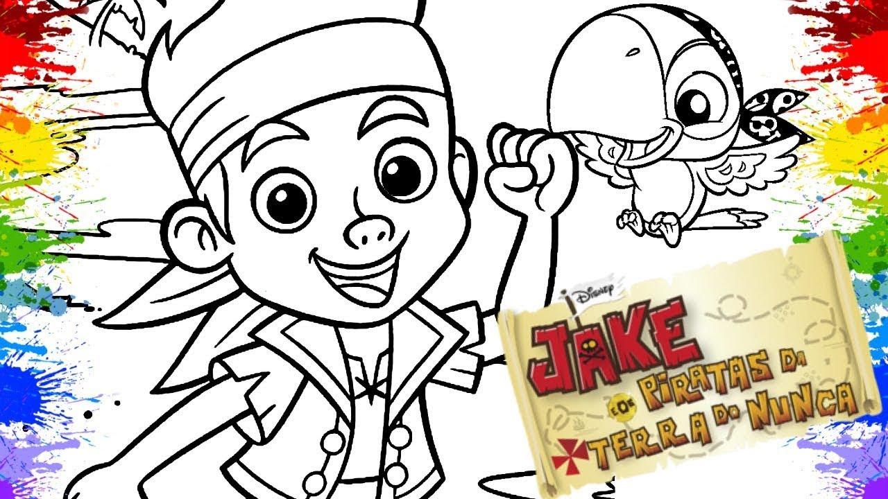 Colorir Desenho Do Capitao Jake E Os Piratas Da Terra Do Nunca Cor