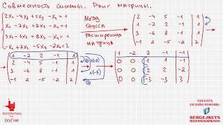 Математика без Ху%!ни. Метод Гаусса. Совместность системы. Ранг матрицы.
