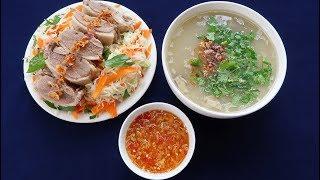 Món Ăn Ngon - CHÁO VỊT nước mắm gừng, gỏi bắp cải thịt vịt