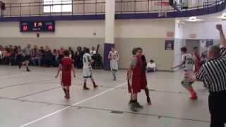 Two 7th Grade Basketball Players Fight it out on the basketball court