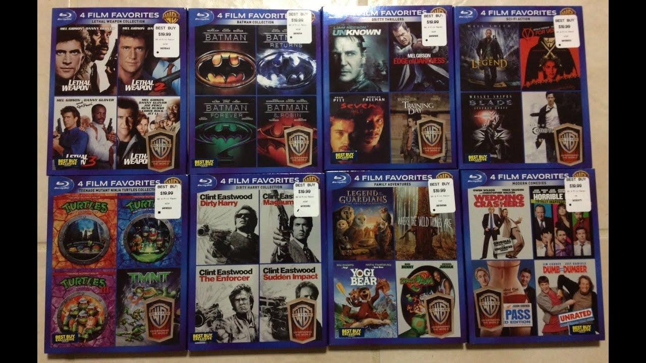 Warner Bros 90 Years 4 Film Favorites Best Buy Exclusives