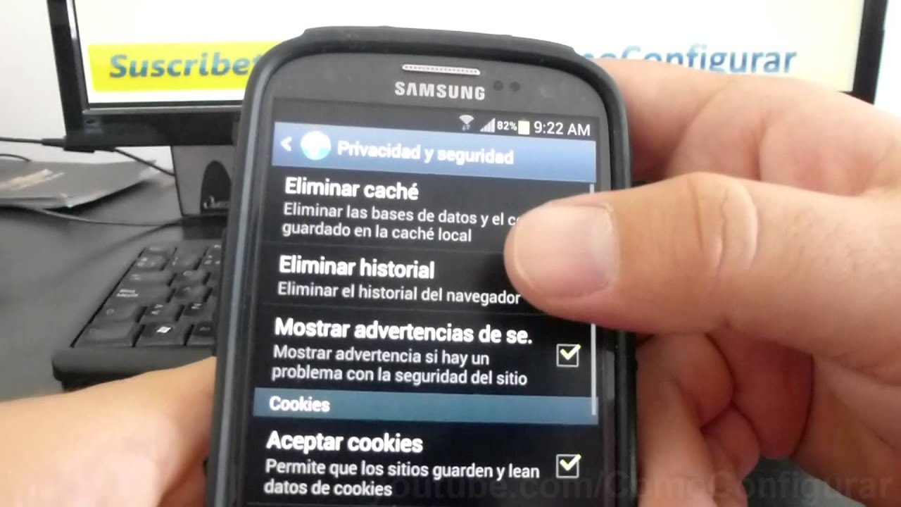 Como Eliminar Cookies En Android Samsung Galaxy S3 I9300