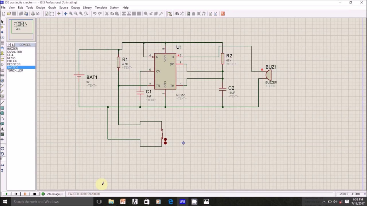 Continuity Checker Using 555 Timerworking Youtube Touch Switch Monostable Timer With Ic
