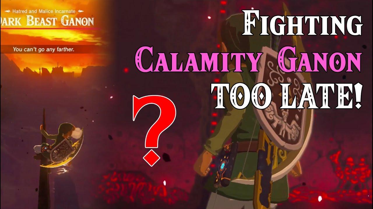 Fighting Calamity Ganon Too Late Ww Link In Zelda Breath Of The Wild Spoilers