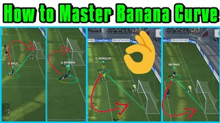 How to Master Banana Curve / Trivela / Finese Shots / Curve Shots PES 2018 MOBILE