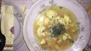 суп с заварными клецками. Chicken Dumpling Soup