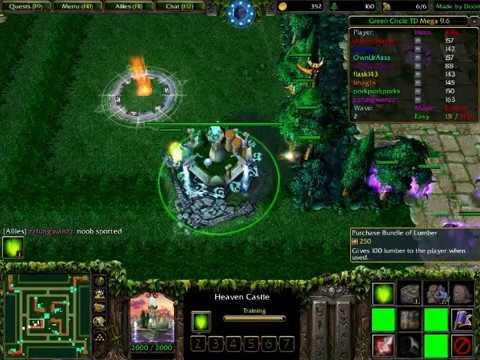 map dota green circle td mega 10.5