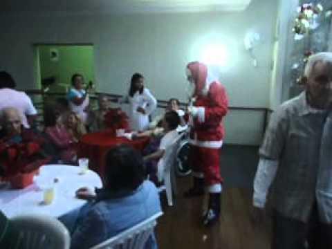 Natal no Residence Care - Chegada do Papai Noel