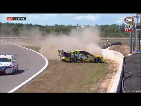 V8 Supercars Darwin 2016 All Crashes and Fails