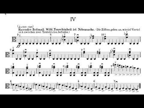 Paul Hindemith - Sonate für Bratsche(Viola) Solo op. 25 No. 1 (1922)(with full score)