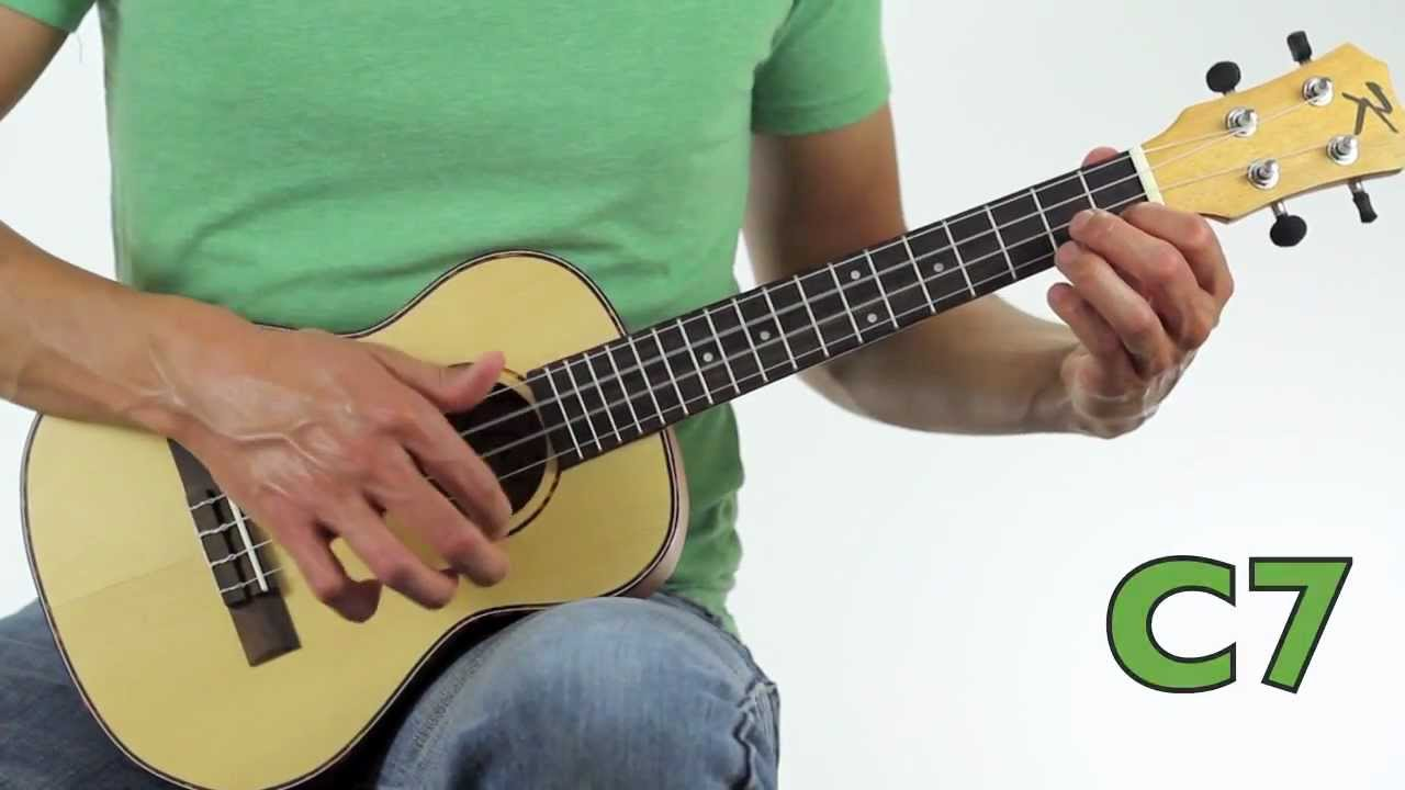 How To Play Here Comes Santa Claus On Ukulele Tutorial Youtube