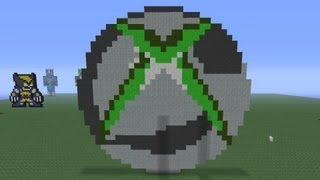 Minecraft Pixel Art: Xbox360 Logo Tutorial