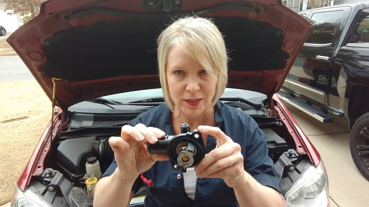 Changing a Coolant Thermostat on a 2012 Chrysler Town & Country