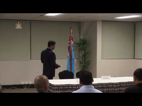 Fijian Attorney General, Aiyaz Sayed-Khaiyum holds budget consultation with the private sector