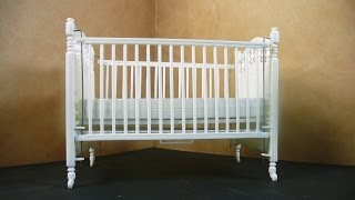 Dollhouse Miniature Crib Kit