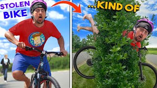 I STOLE SOME BIKES ... sort of! (FV Family New BIKE & Opera Ollie Vlog)