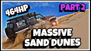 MASSIVE sand dunes - 464hp V8 GQ Patrol at Beachport to Robe
