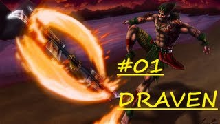 [CZ] League of Legends | Draven (ADC) Part 1 | 1. Video na novem Kanále | 720p HD