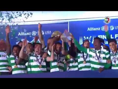 Cerimónia da entrega do troféu ao Sporting (Allianz Cup 18/19)