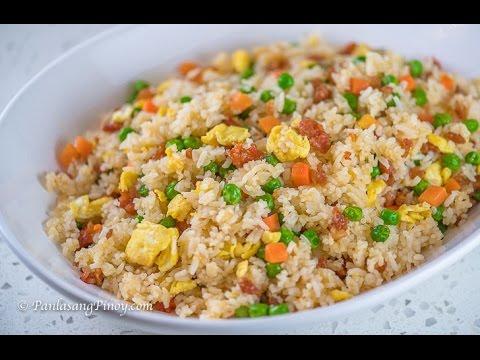 Longanisa Fried Rice Recipe   How To Cook Filipino Fried Rice   Panlasang Pinoy