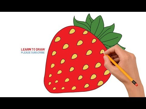 How to Draw Strawberry Step by Step Easy For Kids