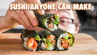 Easy Authentic Sushi Hand Rolls At Home (Temaki)