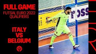 FUTSAL FutsalEURO 2022 Qualification Italy 4 1 Belgium