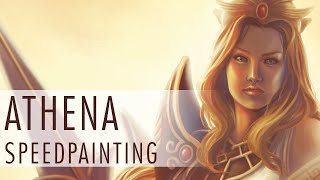 Athena - SMITE fanart speed painting