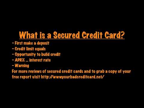 How do you get a secured credit card?