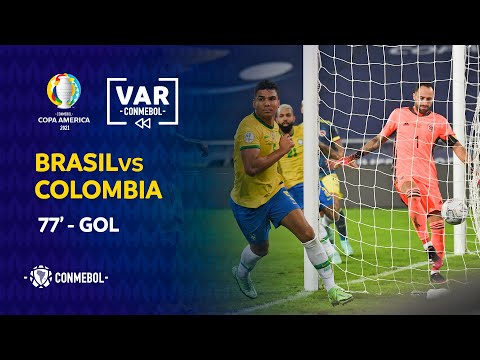 Conmebol publishes VAR audio for Brazil's first goal against Colombia [In Spanish]