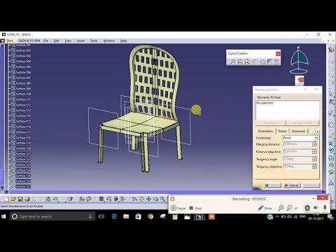 How to design chair in CATIA - generative shape design