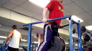 Weighted Dips 250 Pounds X 3 Reps Ugly Set @ 179 Pounds Bwt
