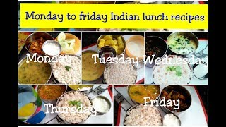 Monday to Friday 30 minute lunch recipes/Indian lunch recipes/Indianmom busy lifestyle