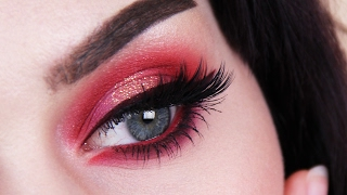 Valentine's Day / Red Eyeshadow Makeup Tutorial