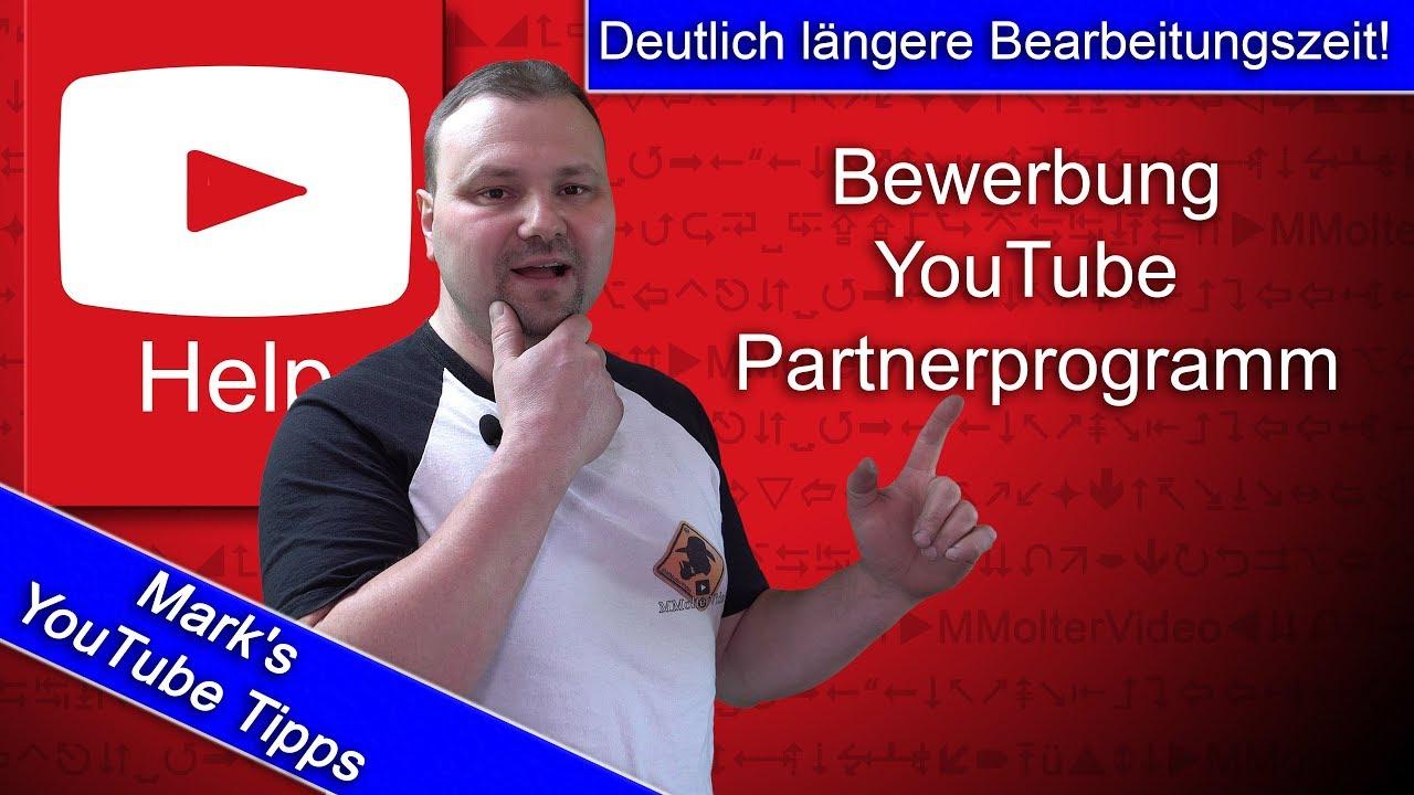 bewerbung fr das youtube partnerprogramm deutlich lngere bearbeitungszeit 2018 - Youtube Video Bewerben
