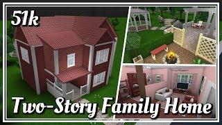 Roblox - Bloxburg: Two-Story Family Home + Backyard
