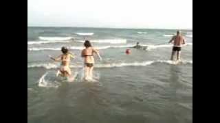 Bagno in mare con il nostro Labrador mp4