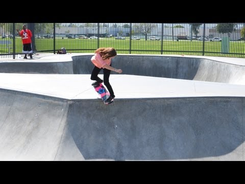 Blog Cam #52 - Skateboard Barbie And Teresa At Chino Skatepark