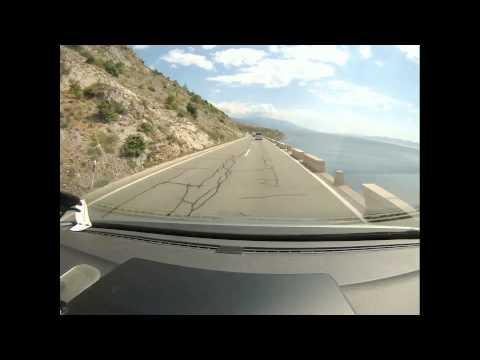 Croatia Slovenia from Rupa Rijeka to Sibenik Split A1 Autocesta  Timelaps Alptour